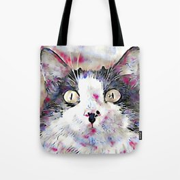 watercolor kitty Tote Bag