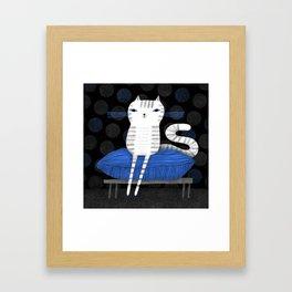 PILLOW PERCH Framed Art Print