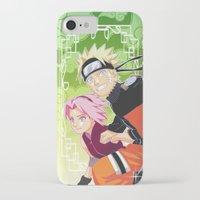 naruto iPhone & iPod Cases featuring Naruto & Sakura by Neo Crystal Tokyo
