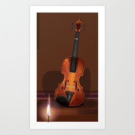 The old Violin Art Print