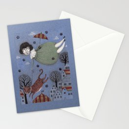 There goes the Cat Stationery Cards