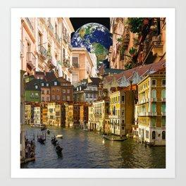 A Glimpse of the World Art Print