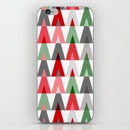 Deer Head Geometric Triangles | white red green iPhone Skin