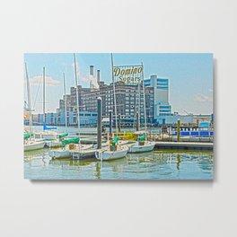 Domino Sugars, Blue Skies, Baltimore, Md., Inner Harbor  Metal Print
