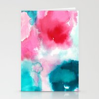 water color Stationery Cards featuring Water color by moniquilla