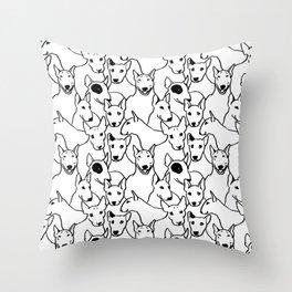 Oh Bull Terrier Throw Pillow