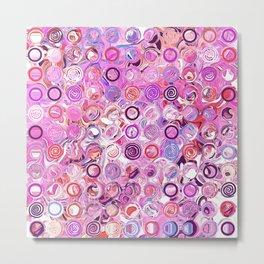 """Sirkel"" 2   Fun With Circles and Dots Metal Print"