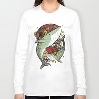 whales Long Sleeve T-shirts featuring Whales by green penguin