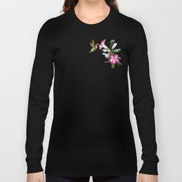 Desert Rose and Hummingbird Patterns Long Sleeve T-shirt