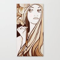 mucha Canvas Prints featuring My Mucha by Little Bunny Sunshine