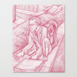 Red Monkey Man Canvas Print
