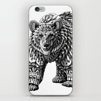 bioworkz iPhone & iPod Skins featuring Ornate Bear by BIOWORKZ