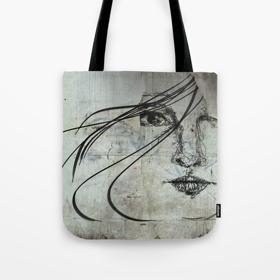 sketched portrait Tote Bag