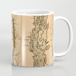 Map Of The Hudson River 1777 Coffee Mug