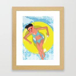 Inner Tube Girl Framed Art Print