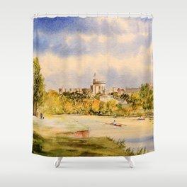 Windsor Castle And River Thames Shower Curtain