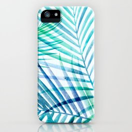 Tropical Palm Pattern iPhone Case