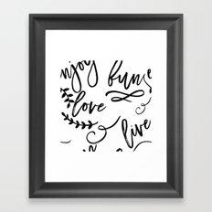 Live Love Fun Framed Art Print