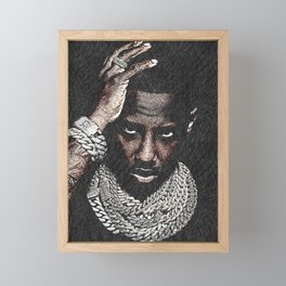 𝐇.𝕋.Ǥ.b.ㄚ. Rap Hip Hop Society6 Fabolous - Greg Yuna Jewelry Rap Music Hip Hop NYC Brooklyn 554k Framed Mini Art Print