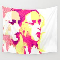 faces Wall Tapestries featuring Faces by Paola Rassu