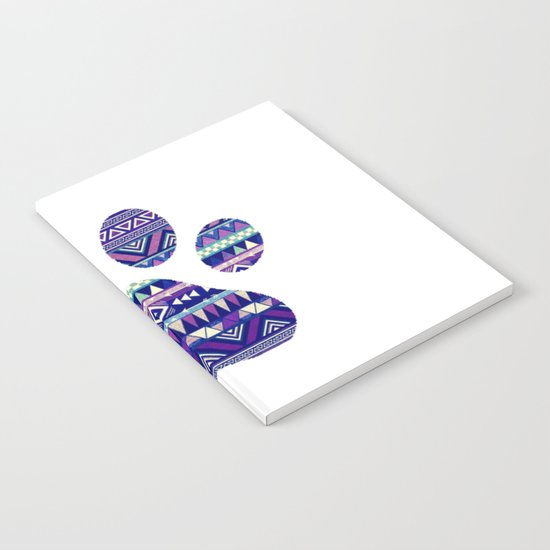 Aztec Paw Print (Dog & Puppy, Animal Lovers) Notebook