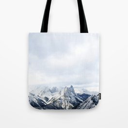 Looking out over the Rockies, in Banff Tote Bag
