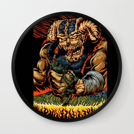judgment of the devil Wall Clock