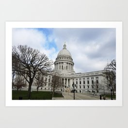 Wisconsin State Capitol Building - Madison, WI, USA Art Print