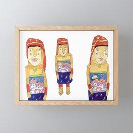 Guna Wood Dolls Framed Mini Art Print