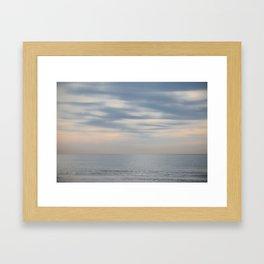 Morning at the ocean Framed Art Print