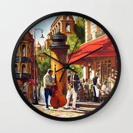Street musicians Wall Clock