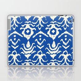 Blue Ikat Damask Print Laptop & iPad Skin
