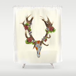 The Red Stag Shower Curtain