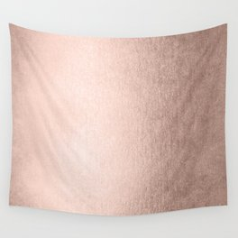 Moon Dust Rose Gold Wall Tapestry
