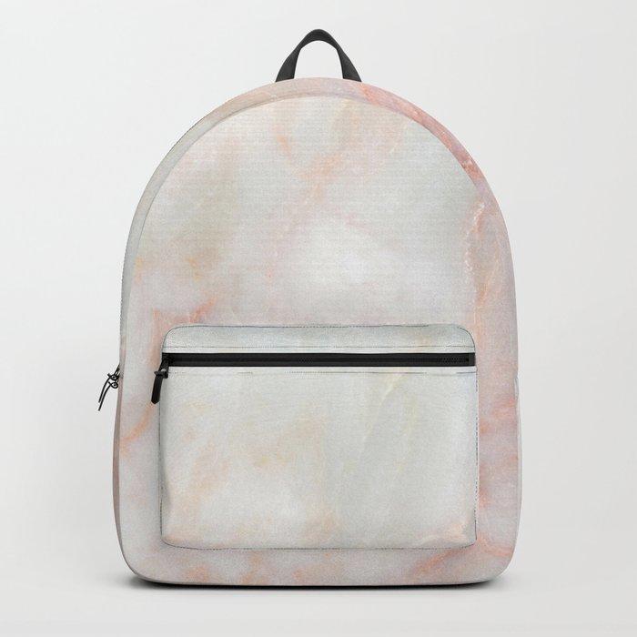 Softest blush pink marble Rucksack