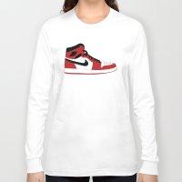 air jordan Long Sleeve T-shirts featuring Air Jordan 1 by Dennis Cortes