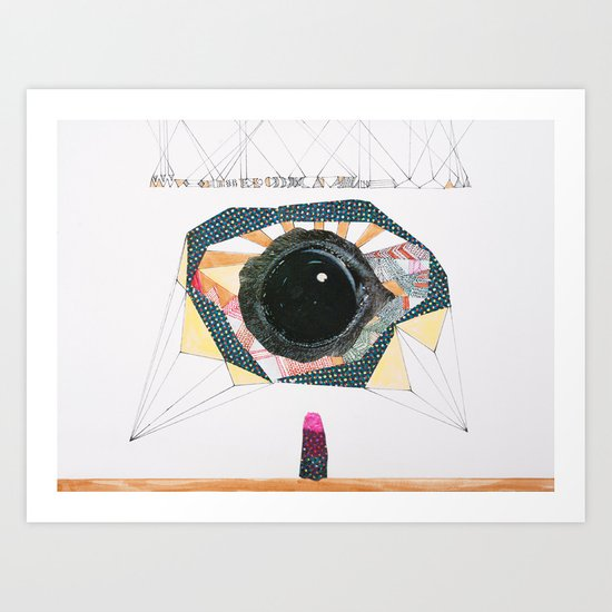 Ancient Eye Art Print
