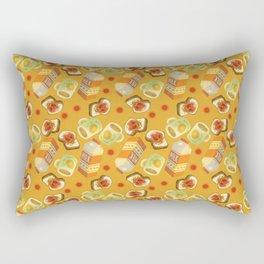 Coffee and Toast (Honey Yellow) Rectangular Pillow