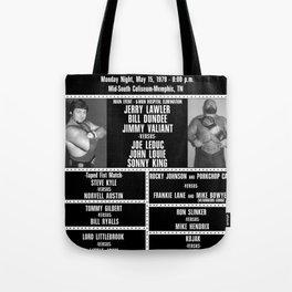 #7-B Memphis Wrestling Window Card Tote Bag