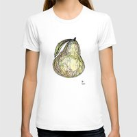 pear T-shirts featuring Pear by Ursula Rodgers
