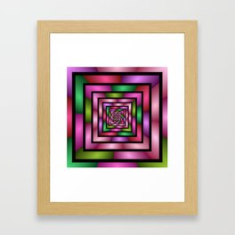Colorful Tunnel 1 Digital Art Graphic Framed Art Print