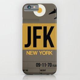 JFK New York Luggage Tag 3 iPhone Case