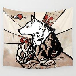 Wolf Ukiyo-e Wall Tapestry