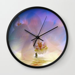 Orchid in a bath 1 - Flower and Flowers on #Society6 Wall Clock