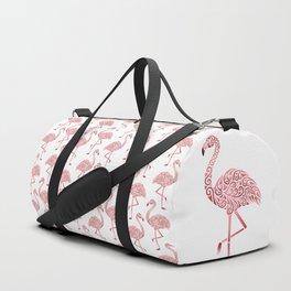 Julie's Pink Flamingo Pattern Duffle Bag