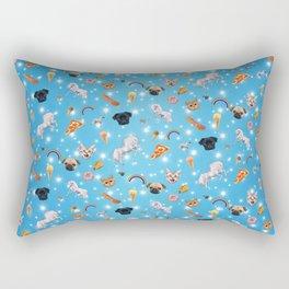 Unicorns, Pugs, Cats, Junk Food Rectangular Pillow