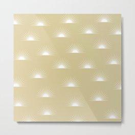 sun pattern Metal Print