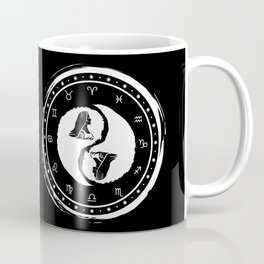 Virgo Yin Yang Sixth Zodiac Sign Coffee Mug