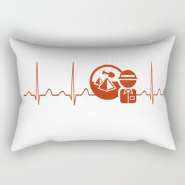 Archaeologist Heartbeat Rectangular Pillow