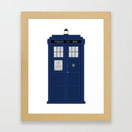 Doctor Who's Tardis Framed Art Print